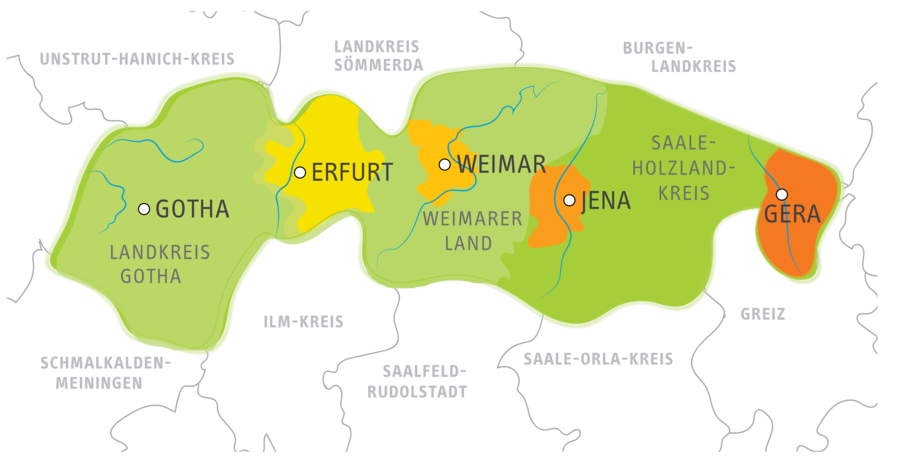 Landkreis Gotha Karte.Der Verkehrsverbund Mittelthuringen Vmt Thuringen